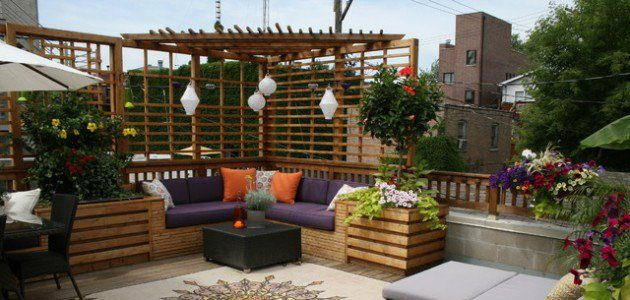 Make your own outdoor seating area